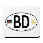 Bangladesh Euro Oval Mousepad