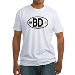 Bangladesh Euro Oval Fitted T-Shirt