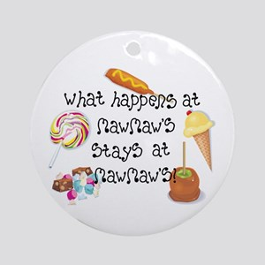 What Happens at MawMaw's... Ornament (Round)