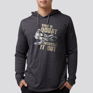 Dirt Bike T-Shirt Throttle It Long Sleeve T-Shirt
