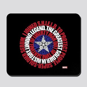 Captain America Word Shield Mousepad