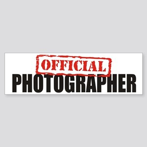 Official Photographer Bumper Sticker