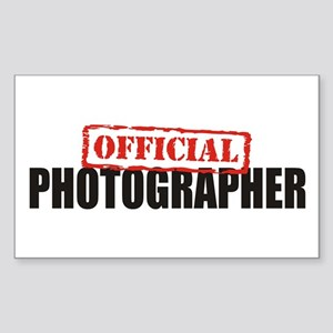 Official Photographer Rectangle Sticker