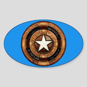 Captain America Steampunk Shield Sticker (Oval)
