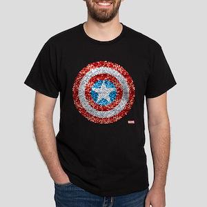Captain America Pixel Shield Dark T-Shirt