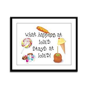 What Happens at Lola's... Framed Panel Print