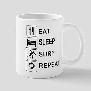 EAT, SLEEP, SURF, REPEAT Mugs