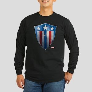 Captain America Retro Shi Long Sleeve Dark T-Shirt