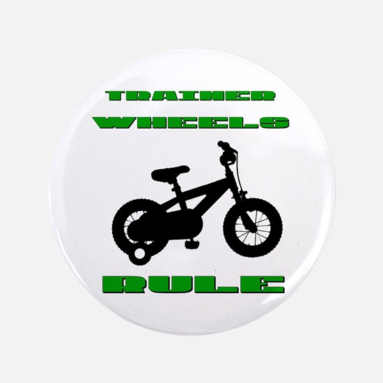 """Trainer Wheels Bicycle 3.5"""" Button"""