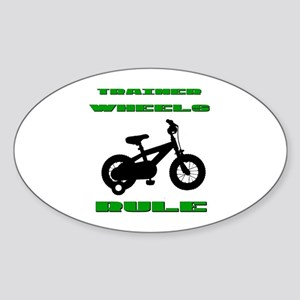 Trainer Wheels Bicycle Sticker (Oval)