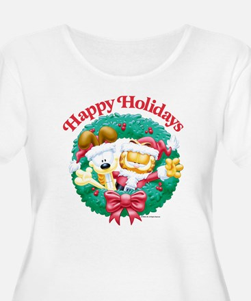 Garfield & Odie Happy Holidays T-Shirt