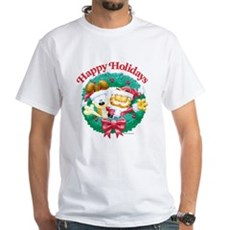 Garfield & Odie Happy Holidays White T-Shirt