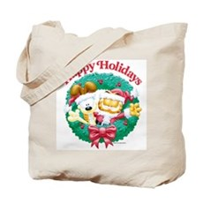 Garfield & Odie Happy Holidays Tote Bag
