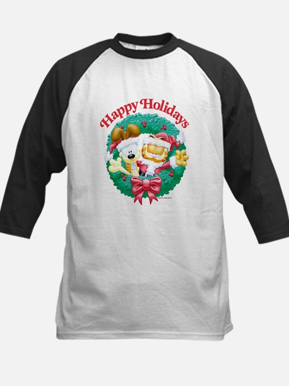 Garfield & Odie Happy Holidays Kids Baseball Jerse