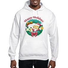 Garfield & Odie Happy Holidays Hooded Sweatshirt