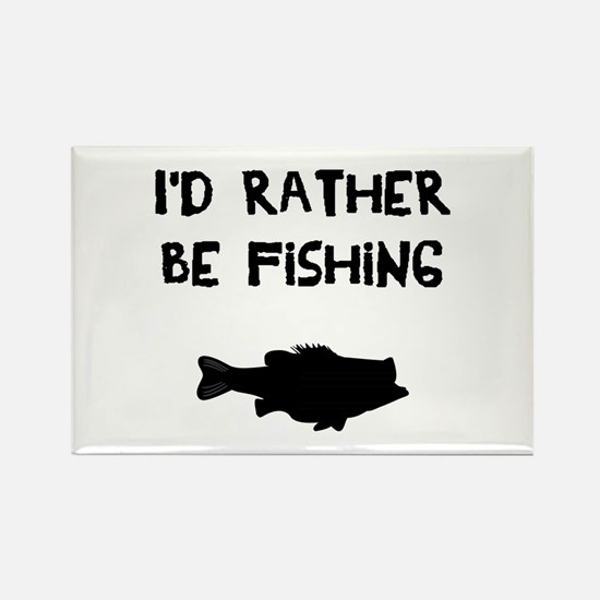 I'd rather be fishing Magnets