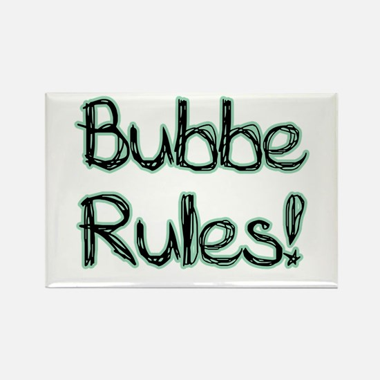 Bubbe Rules! Rectangle Magnet