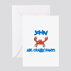 John - Mr. Crabby Pants Greeting Card