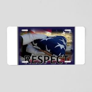 Respect Aluminum License Plate
