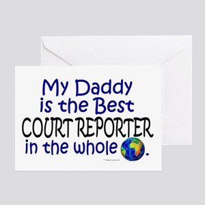 Best Court Reporter In The World (Daddy) Greeting