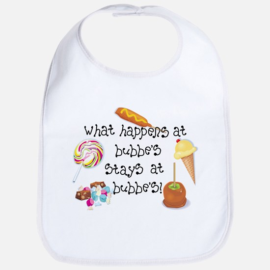 What Happens at Bubbe's... Funny Baby Bib