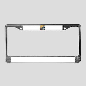 Tuxedo Cat License Plate Frame