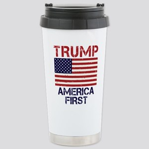Trump America First Stainless Steel Travel Mug