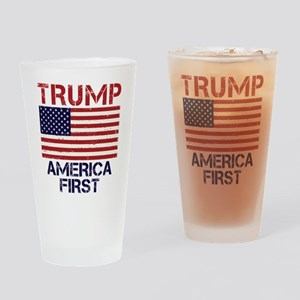 Trump America First Drinking Glass