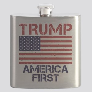 Trump America First Flask