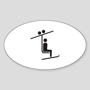Ski Lift Oval Sticker