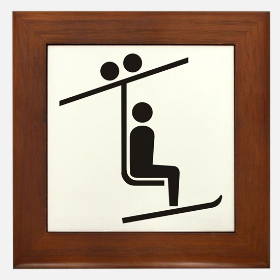 Ski Lift Framed Tile