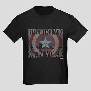 Captain America Brooklyn Distres Kids Dark T-Shirt