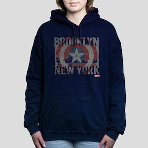 Captain America Brooklyn Women's Hooded Sweatshirt