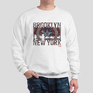 Captain America Brooklyn Distressed Sweatshirt