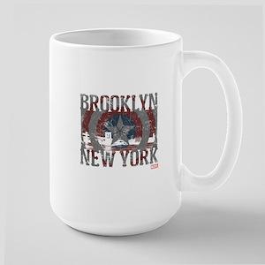 Captain America Brooklyn Distressed Large Mug