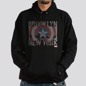 Captain America Brooklyn Distressed Hoodie (dark)