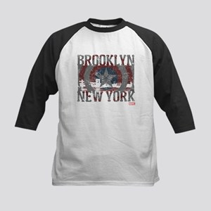 Captain America Brooklyn Dist Kids Baseball Jersey