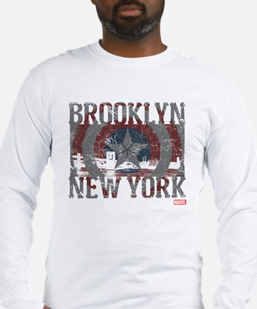 Captain America Brooklyn Distr Long Sleeve T-Shirt