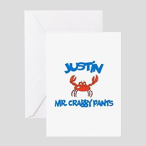 Justin - Mr. Crabby Pants Greeting Card