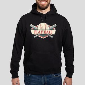 Play Ball Baseball Hoodie (dark)