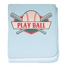 Play Ball Baseball baby blanket