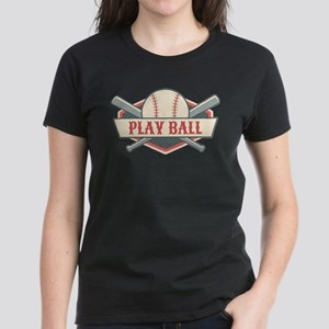Play Ball Baseball Women's Dark T-Shirt