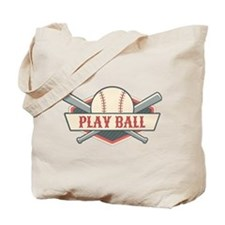 Play Ball Baseball Tote Bag