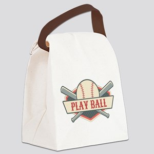 Play Ball Baseball Canvas Lunch Bag