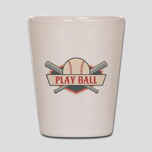 Play Ball Baseball Shot Glass