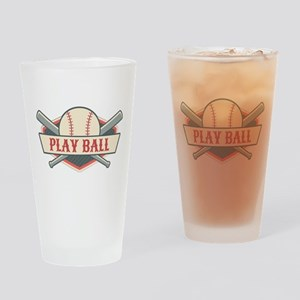 Play Ball Baseball Drinking Glass