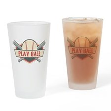 Play Ball Baseball Drinking Glass