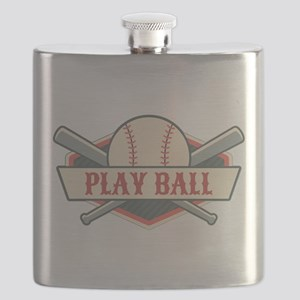Play Ball Baseball Flask