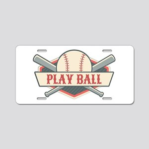 Play Ball Baseball Aluminum License Plate