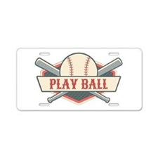 Play Ball Baseball Aluminum License Plate